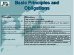basic principles and obligations