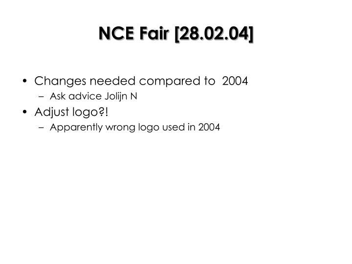 NCE Fair [28.02.04]