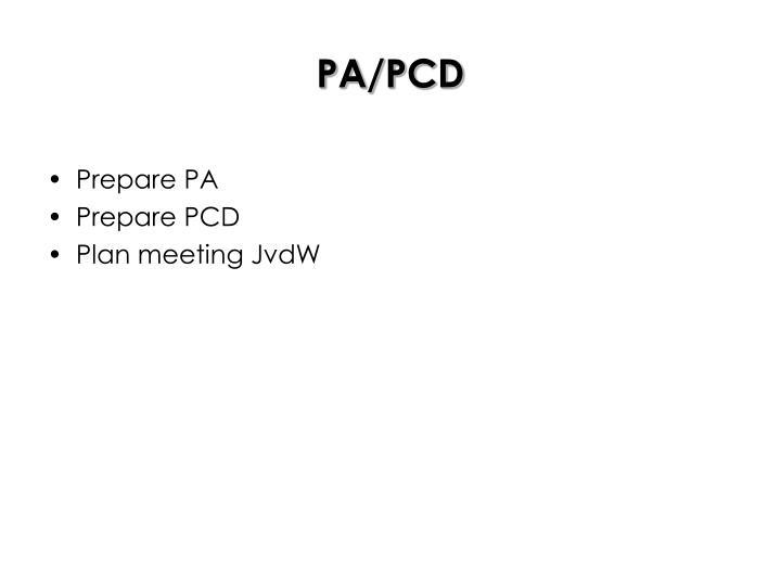 PA/PCD