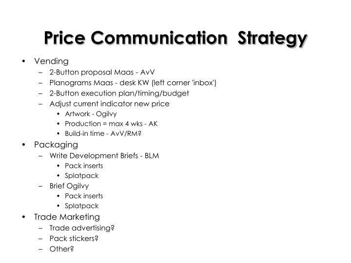 Price Communication  Strategy