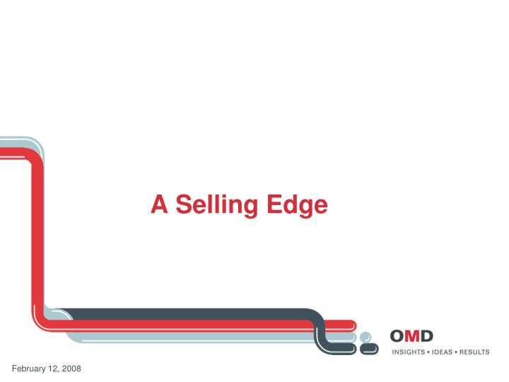 a selling edge