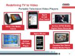 portable television video players