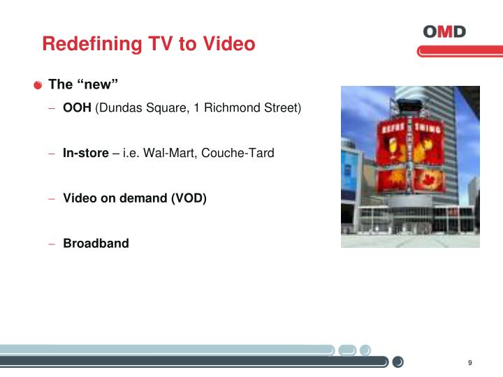 Redefining TV to Video