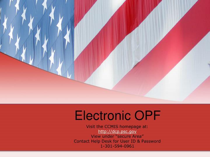 Electronic OPF