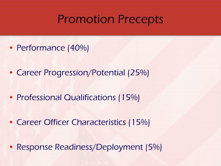 Promotion Precepts