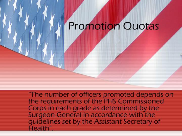 Promotion Quotas