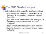 the cgsb standard and you6