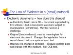 the law of evidence in a small nutshel l2
