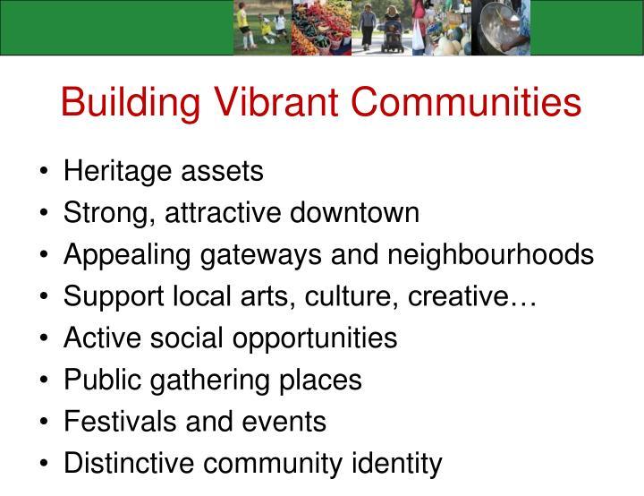 Building Vibrant Communities