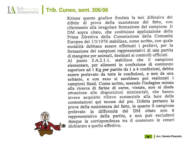 Trib. Cuneo, sent. 206/06