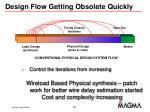 design flow getting obsolete quickly