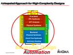 integrated approach for high complexity designs