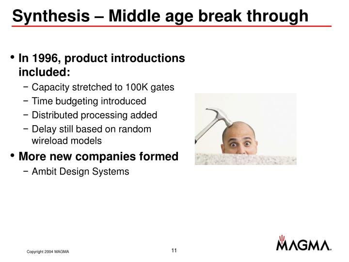 Synthesis – Middle age break through