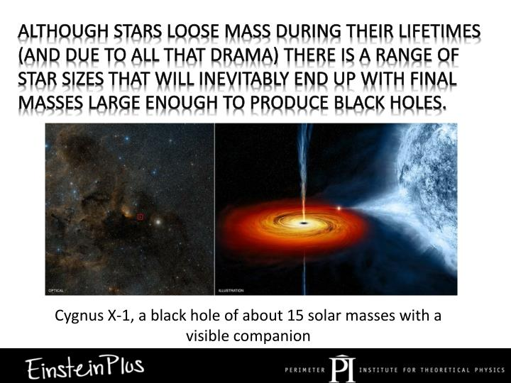 Although stars loose mass during their lifetimes (and due to all that drama) there is a range of star sizes that will inevitably end up with final masses large enough to produce black holes.