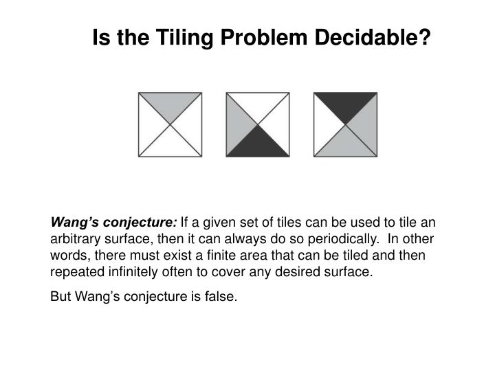 Is the Tiling Problem Decidable?