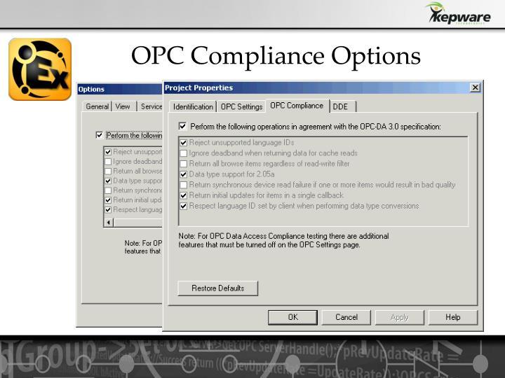 OPC Compliance Options
