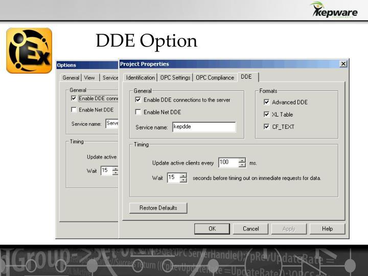 DDE Option