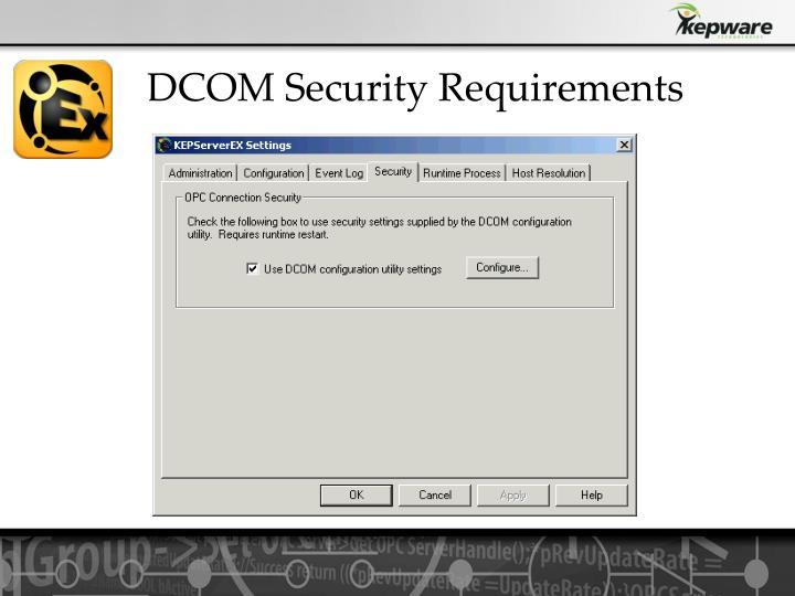 DCOM Security Requirements