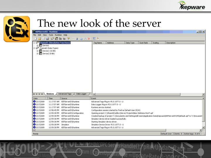 The new look of the server