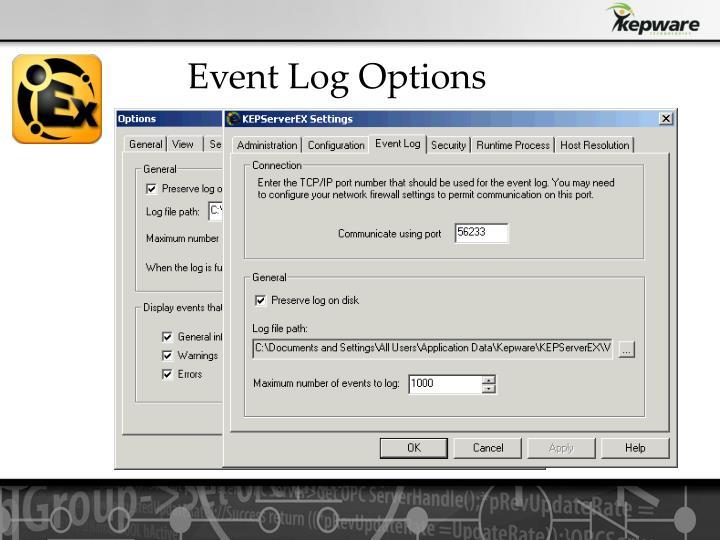 Event Log Options