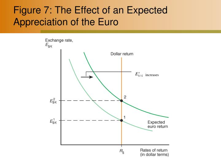 Figure 7: The Effect of an Expected Appreciation of the Euro