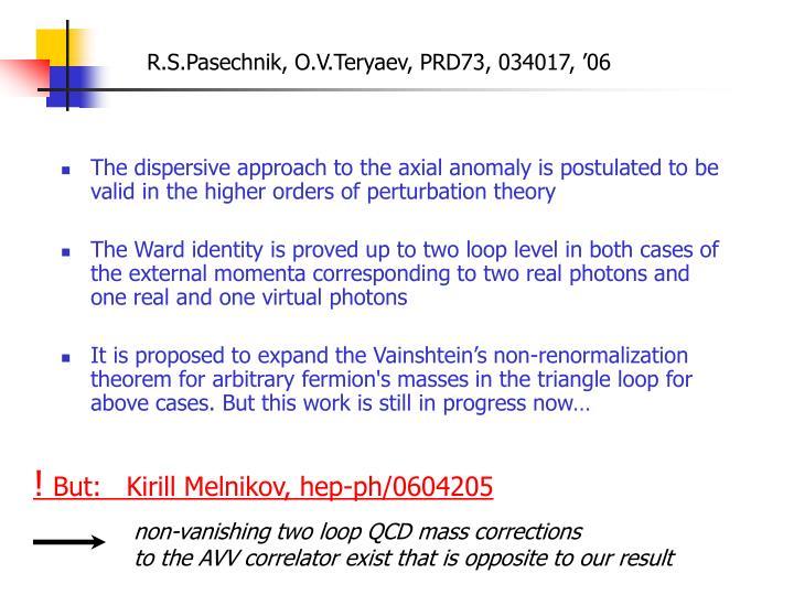 R.S.Pasechnik, O.V.Teryaev, PRD73, 034017, '06