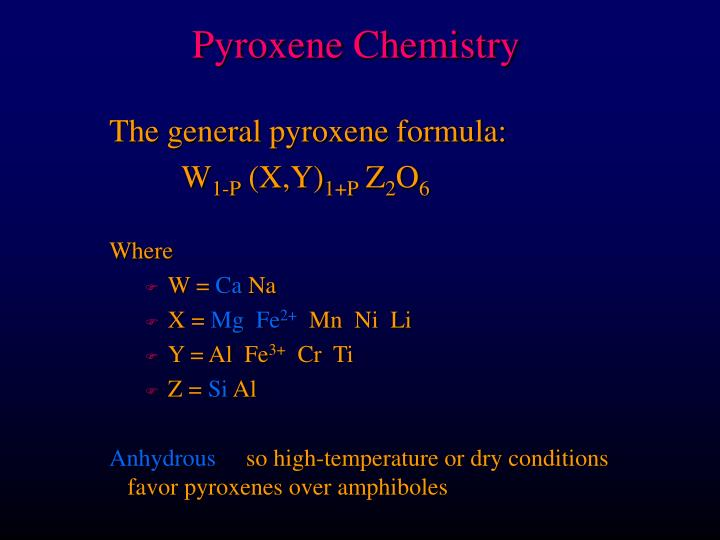Pyroxene Chemistry