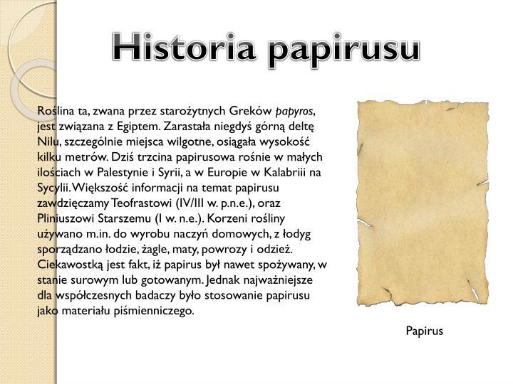Historia papirusu