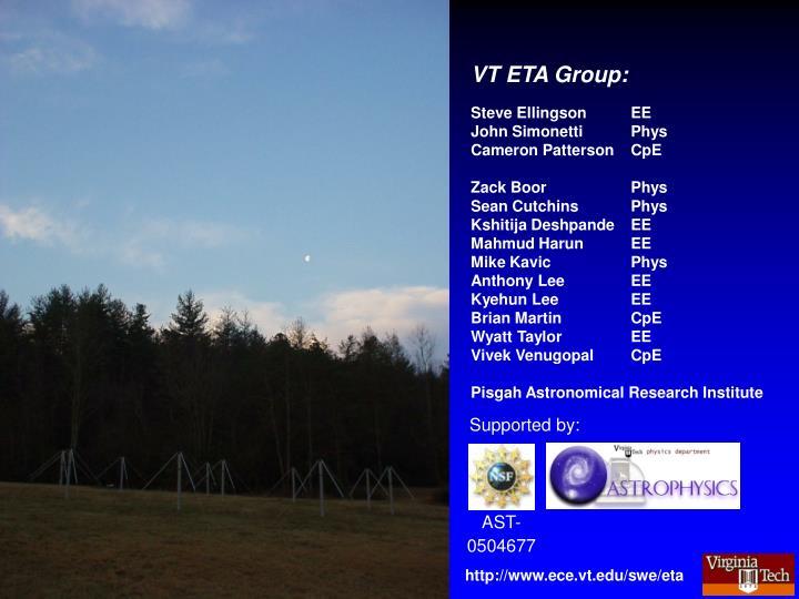 VT ETA Group: