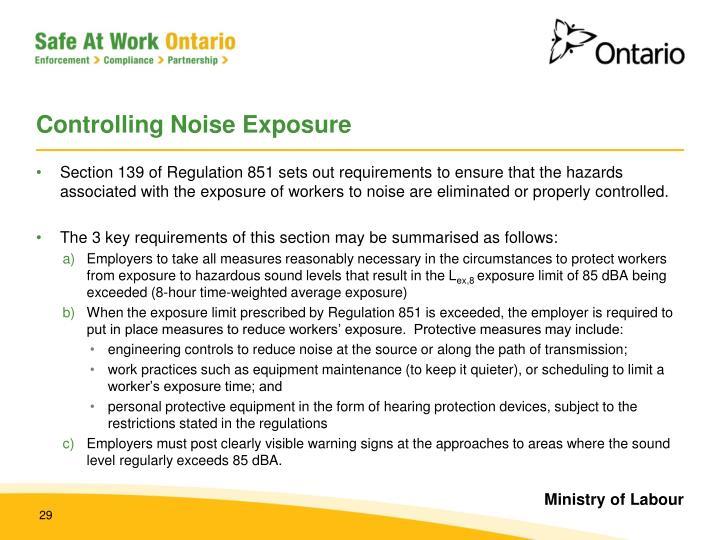 Controlling Noise Exposure