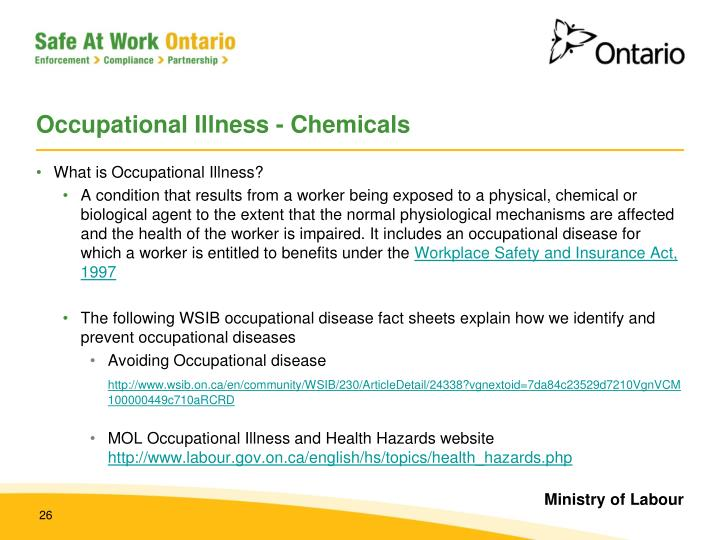 Occupational Illness - Chemicals