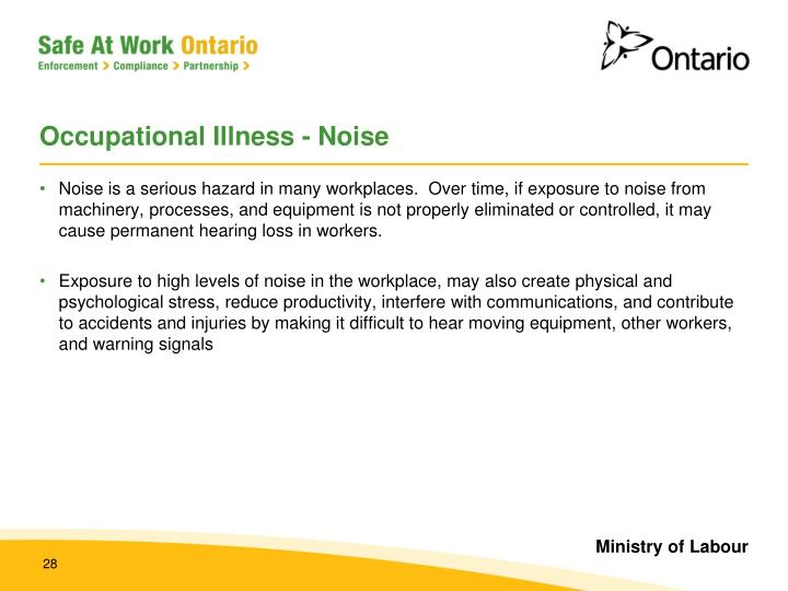 Occupational Illness - Noise