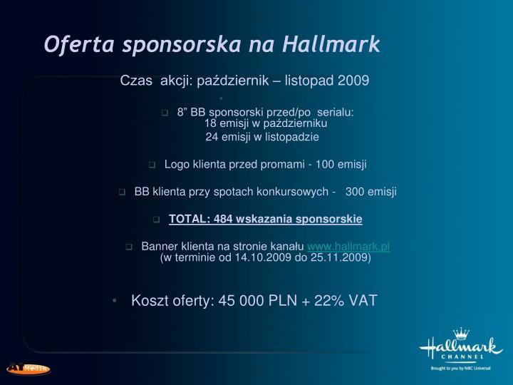 Oferta sponsorska na Hallmark