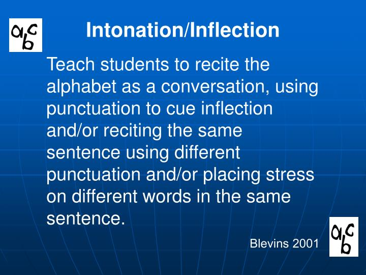 Intonation/Inflection