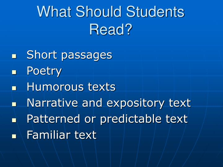 What Should Students Read?