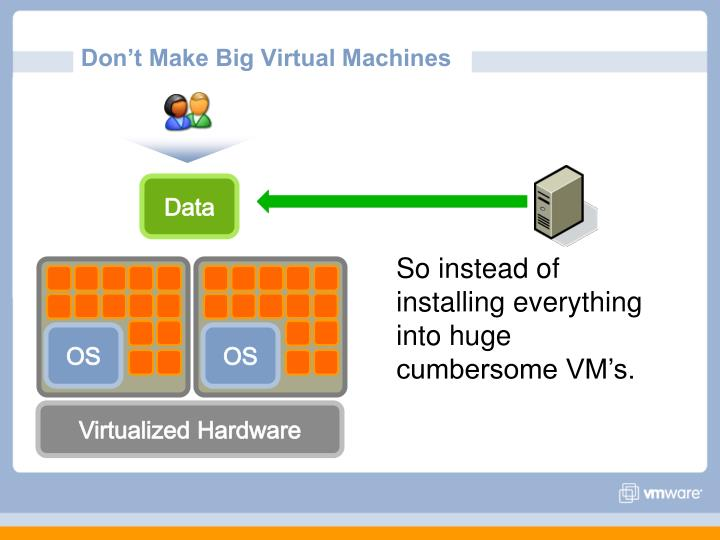 Don't Make Big Virtual Machines