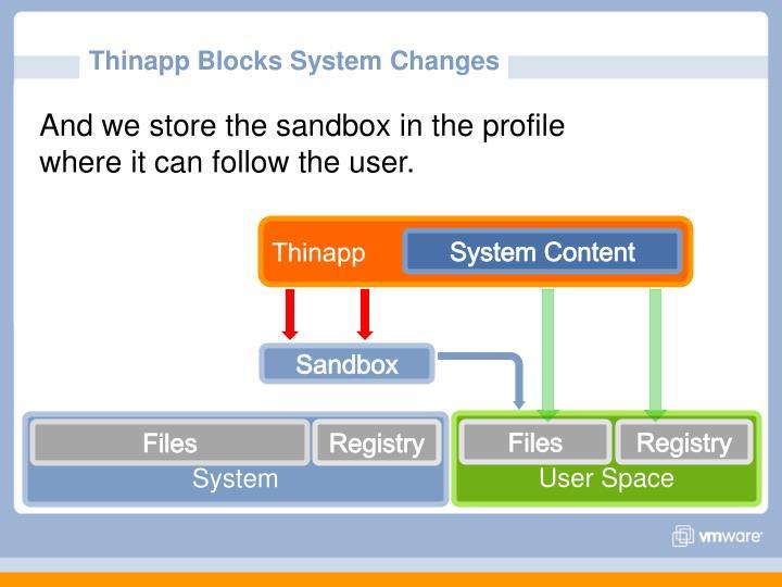 Thinapp Blocks System Changes