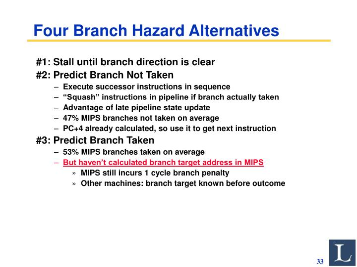 Four Branch Hazard Alternatives