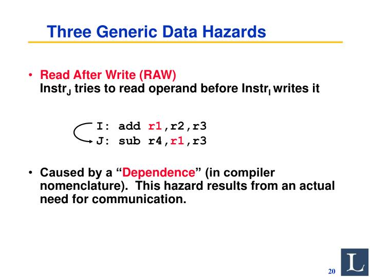 Three Generic Data Hazards