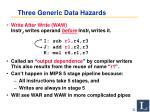 three generic data hazards2
