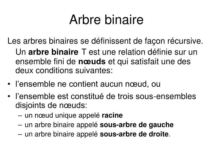 Arbre binaire