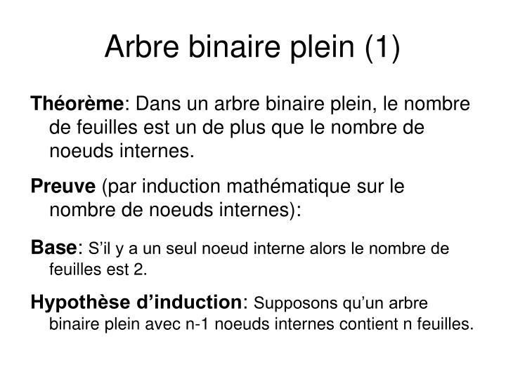 Arbre binaire plein (1)