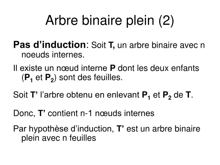 Arbre binaire plein (2)