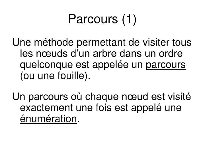 Parcours (1)