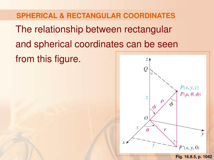 SPHERICAL & RECTANGULAR COORDINATES
