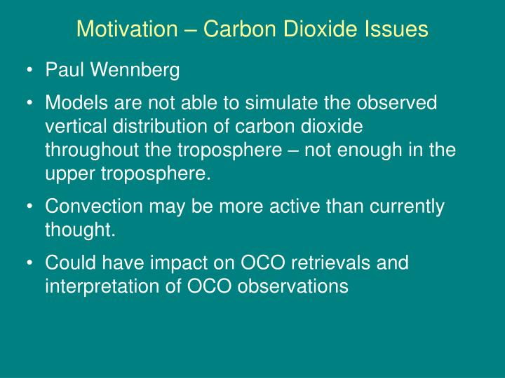 Motivation – Carbon Dioxide Issues