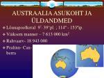 austraalia asukoht ja ldandmed