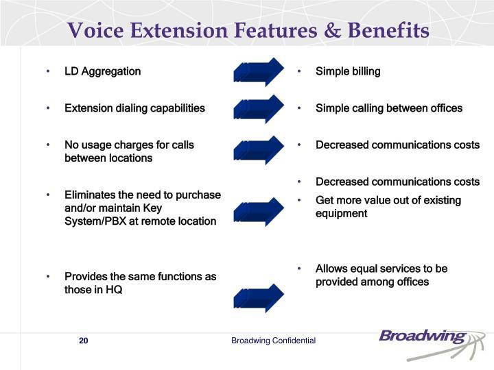 Voice Extension Features & Benefits