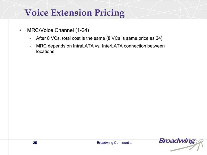 Voice Extension Pricing