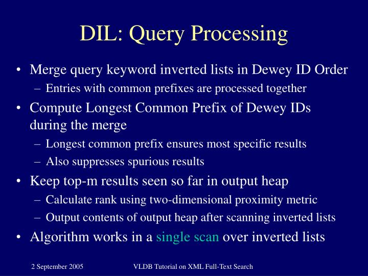 DIL: Query Processing
